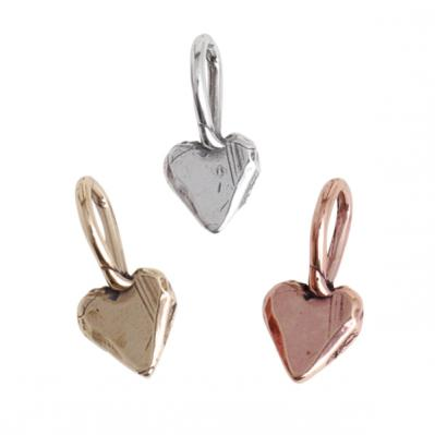 Heart Trinket Charm Silver, Gold, Rose Gold