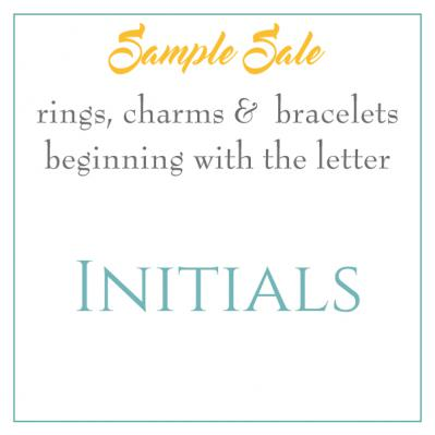 Sample Sale - Initials