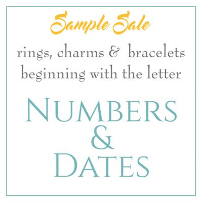 Sample Sale - Numbers & Dates