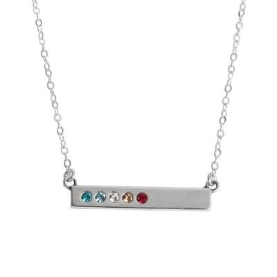 silver bar mother's necklace