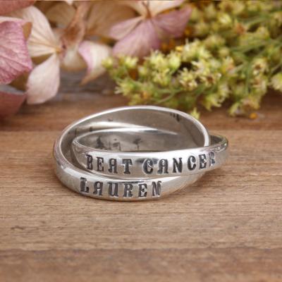 Breast cancer ring, survivor ring