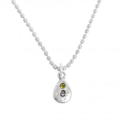 Mother's Charm Necklace with inital and birthstone