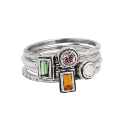 stackable birthstone rings for mothers