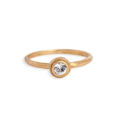 stackable gold birthstone family ring