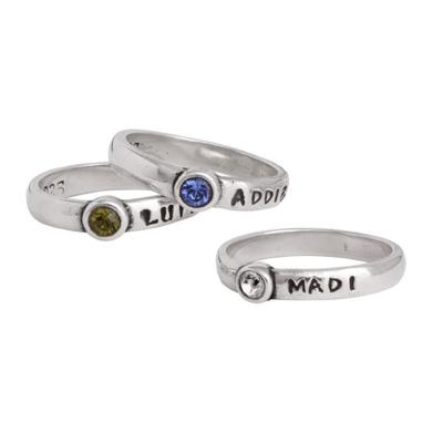 Grandmothers Stackable Name Rings