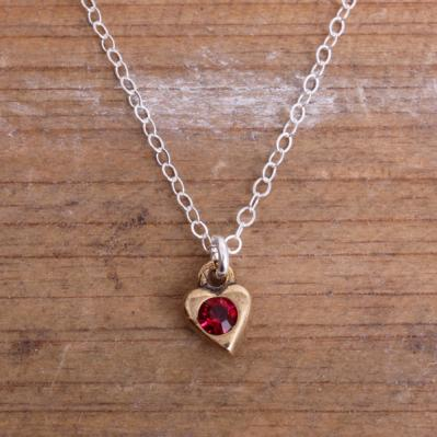 *SALE* Birthstone Heart Necklace
