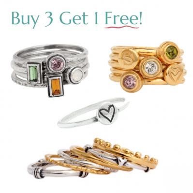 Stackable Ring Special ~ Buy 3 get one Free!