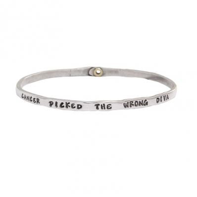 Custom Cancer Bangle Bracelet