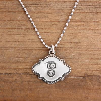 *SUMMER STEAL* Custom Stamped Initial Necklace