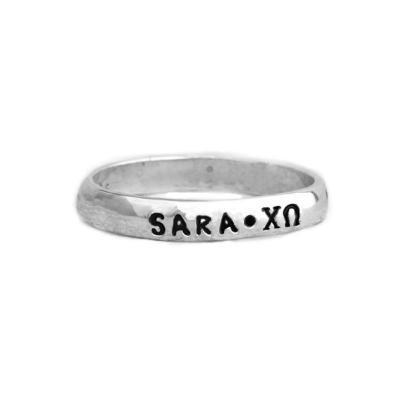 Chi Omega sorority ring single