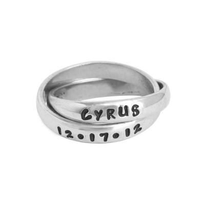 silver rolling ring for adoption