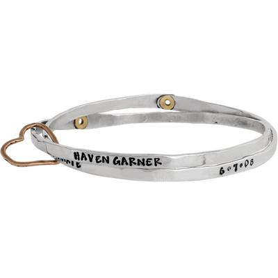 grandmothers bangle bracelet with childrens names