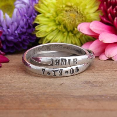 memorial miscarriage bereavement name ring