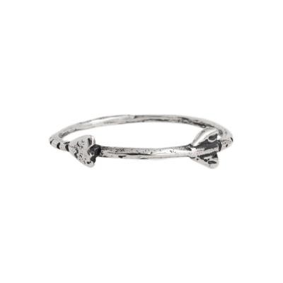Stackable Rings, Follow your Arrow Band in Silver