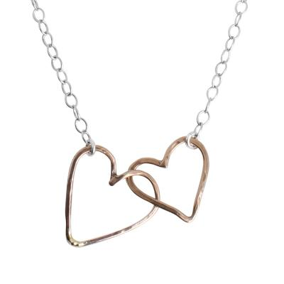 two heart necklace