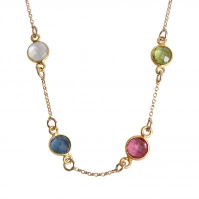 gold grandmother's birthstone necklace