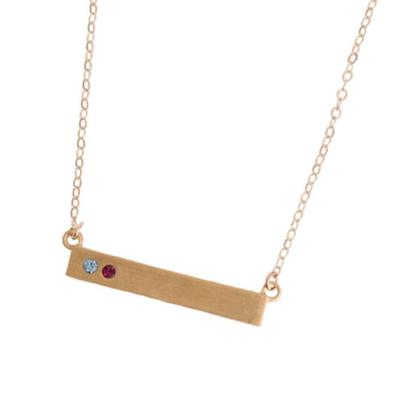 gold grandmother's birthstone bar necklace