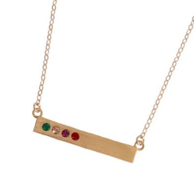 Gold Birthstone Bar Necklace