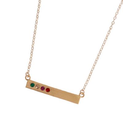Grandmother's Gold Bar Necklace