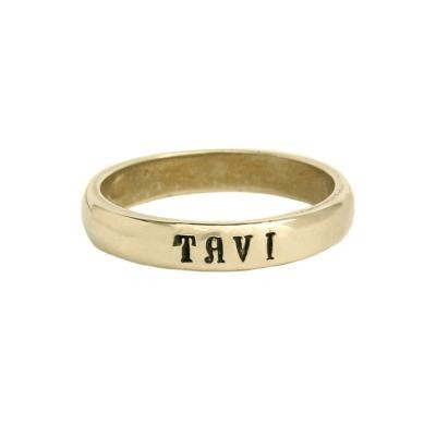 Gold stamped ring for Mom