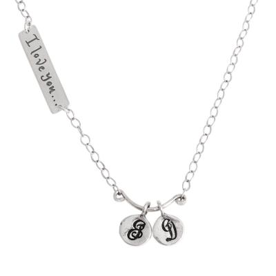 93995170c9 Initial Necklace, I Love you to the Moon and Back Stamped Bar ...