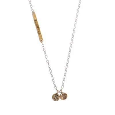 mothers long necklace with charms