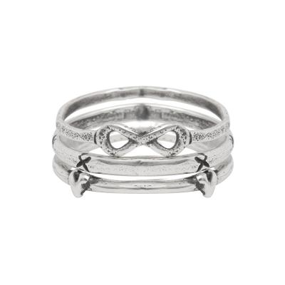 infinity sterling silver stacking ring at Nelle and Lizzy www.nelleandlizzy.com