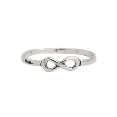 sterlinginfinity silver stacking ring at Nelle