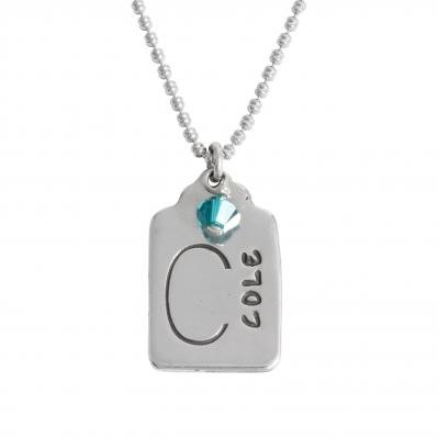 Mother's charm necklace with birthstone