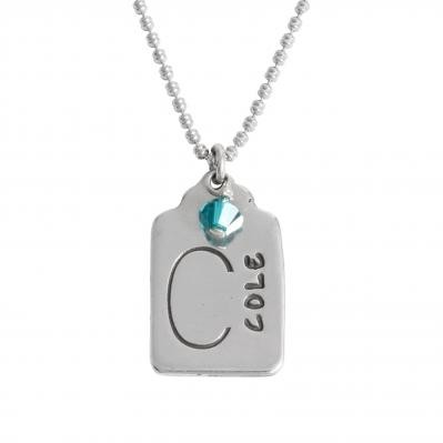 stamped name charm
