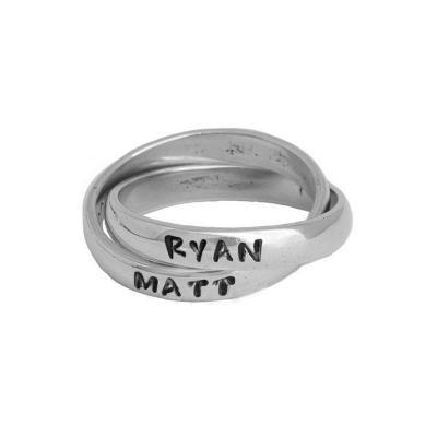 Custom Rings, Double Name Ring