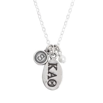 kappa alpha theta greek sorority sister initial necklace