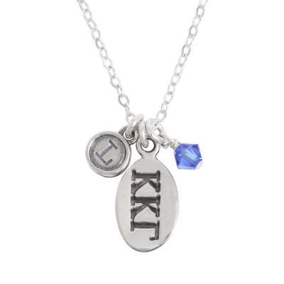 kappa kappa gamma greek sorority sister initial necklace