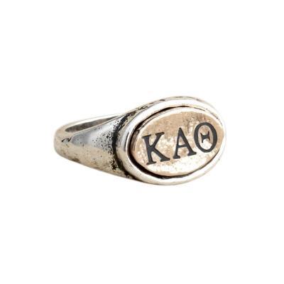 Kappa Alpha Theta Sorority Ring, Personzalized with Greek Letters