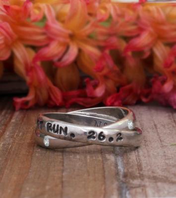 Custom Runner's Ring and Marathon ring