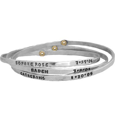 mothers bangle bracelet with names