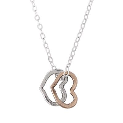 Grandmother Necklace with Sterling Heart Charms