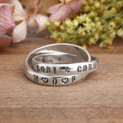 mother daughter friend ring