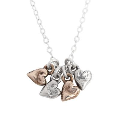Grandmother of Four Heart Charm Necklace