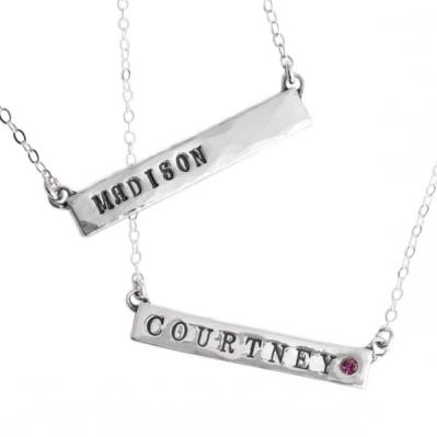 Nameplate Necklaces in silver