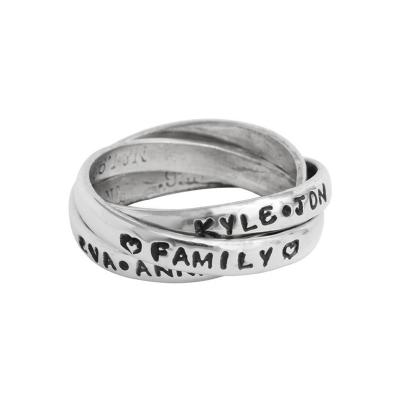 personalized grandmother's rings stamped