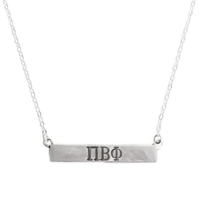 Pi Beta Phi Sorority Bar Necklace Namplate