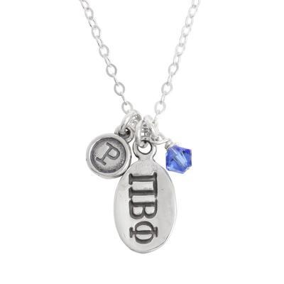 pi beta phi greek sorority sister initial necklace