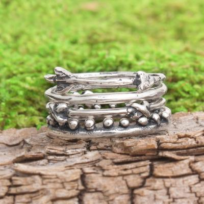 sterling silver stacking ring at Nelle