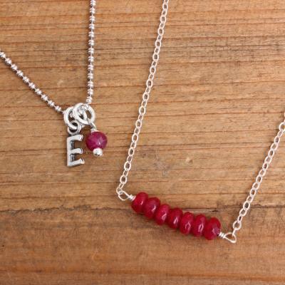 *SALE* July Birthstone Necklaces