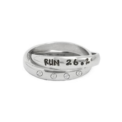 Custom Runner's Ring and Marathon ring