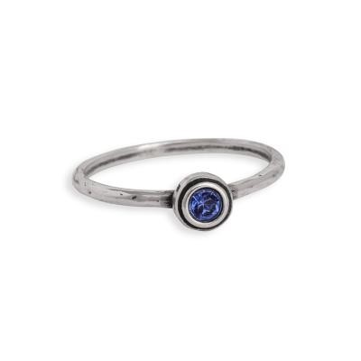 sterling silver birthstone ring stackable
