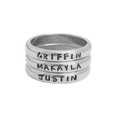 Stackable Grandma rings - set of three
