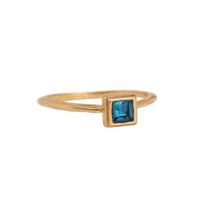 gold stacking square ring