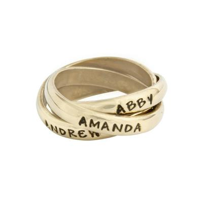 mother's name ring with three bands